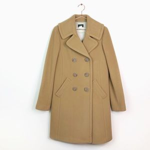 J. Crew Camel Wool & Cashmere Double Breasted Coat